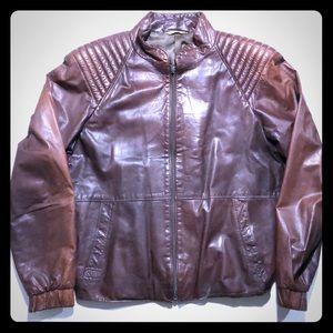 Other - Genuine Leather Biker Jacket Brown Leather Jacket